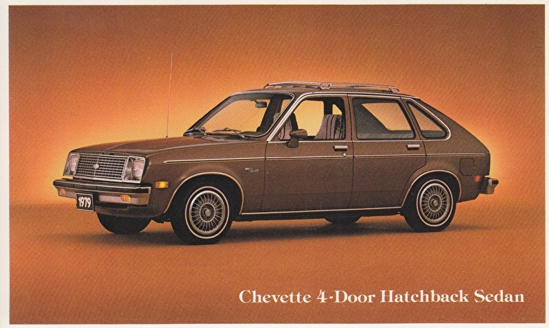 Chevette 4-Door Hatchback Sedan, US postcard, standard size, 1979