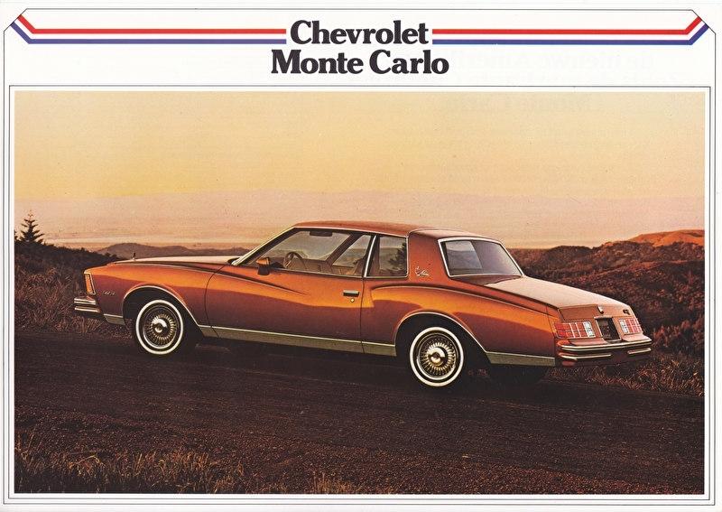 Monte Carlo Coupé 1979, 2 pages, export, Dutch language