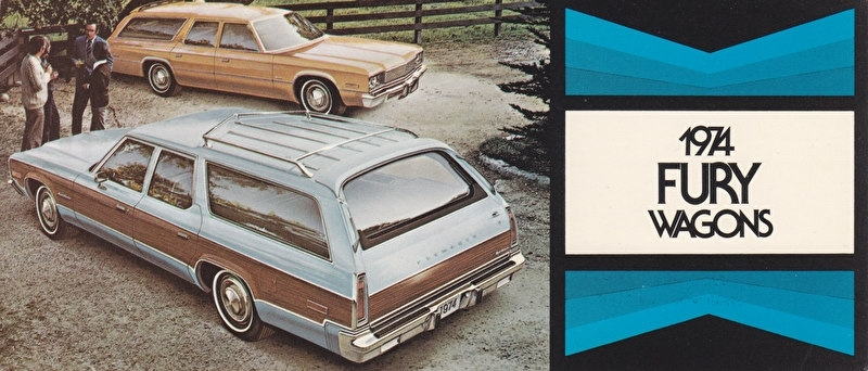 Fury Wagons, US postcard, size 19 x 8 cm, 1974
