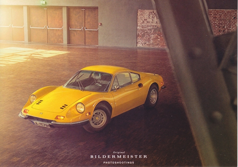 Dino 246 GT Coupe, continental size postcard, Bildermeister, 03/2014