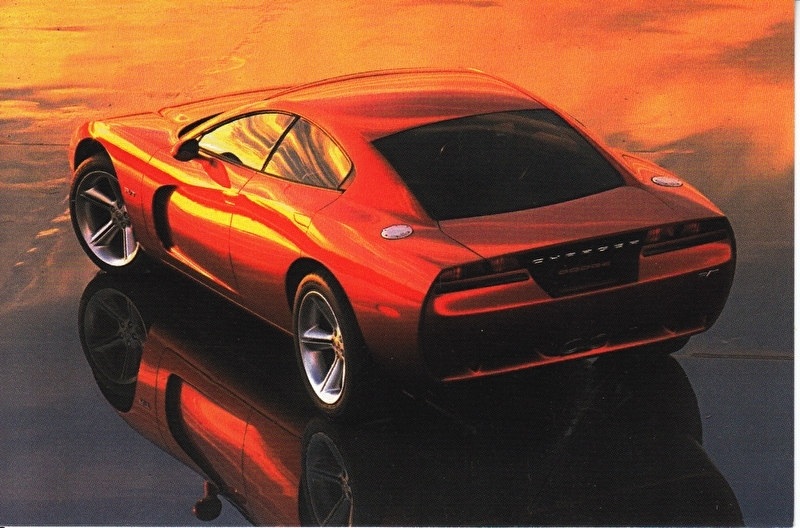 Dodge Charger, A6-size postcard, NAIAS 1999, English