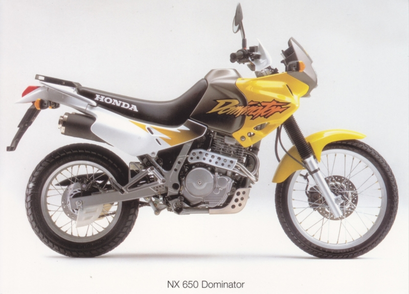 Honda NX Dominator postcard, 18 x 13 cm, no text on reverse, about 1994