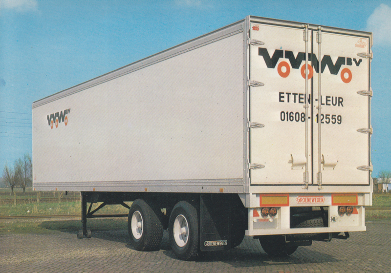 Trailer 2 axle plywood, DIN A6-size postcard, Dutch issue