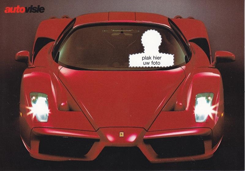 Enzo by Autovisie magazine, Dutch larger size Premium freecard, about 2003