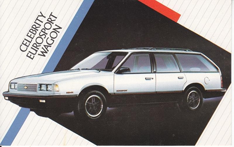 Celebrity Eurosport Wagon,  US postcard, standard size, 1986
