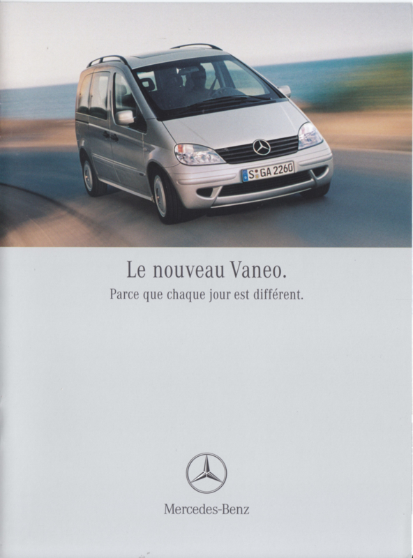Vaneo brochure. 8 pages, 12/2001, French language