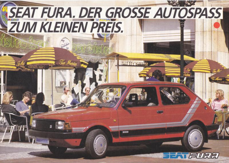 Fura GL Hatchback leaflet, 2 pages, German language, about 1985