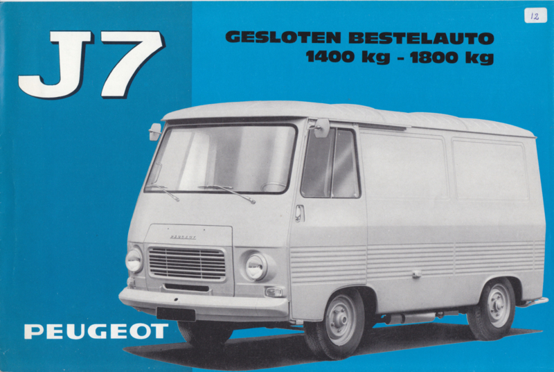 J7 Closed Van brochure, 6 pages, A4-size, 09/67, Dutch language
