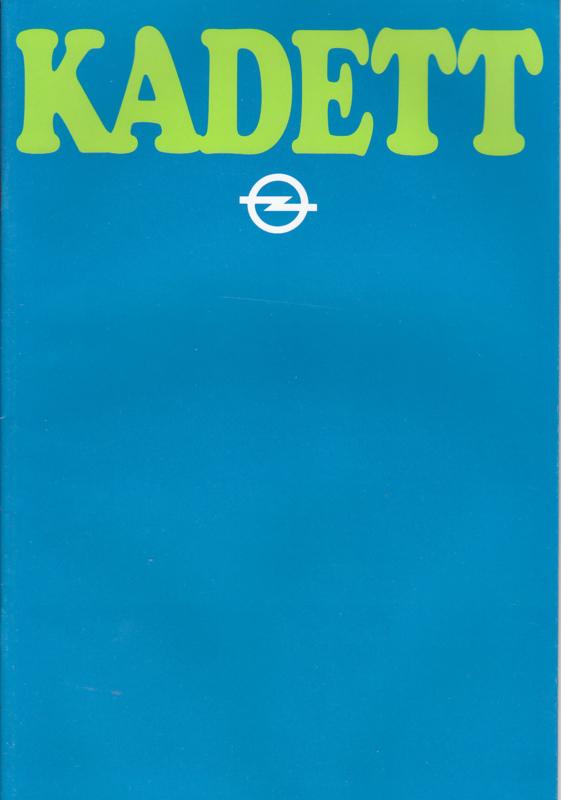 Kadett brochure, 28 pages +  specs., 1980, Dutch language (Flemish)