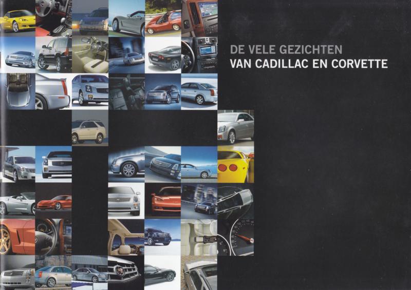 Program Cadillac & Corvette brochure, 12 pages, about 2007, Dutch language