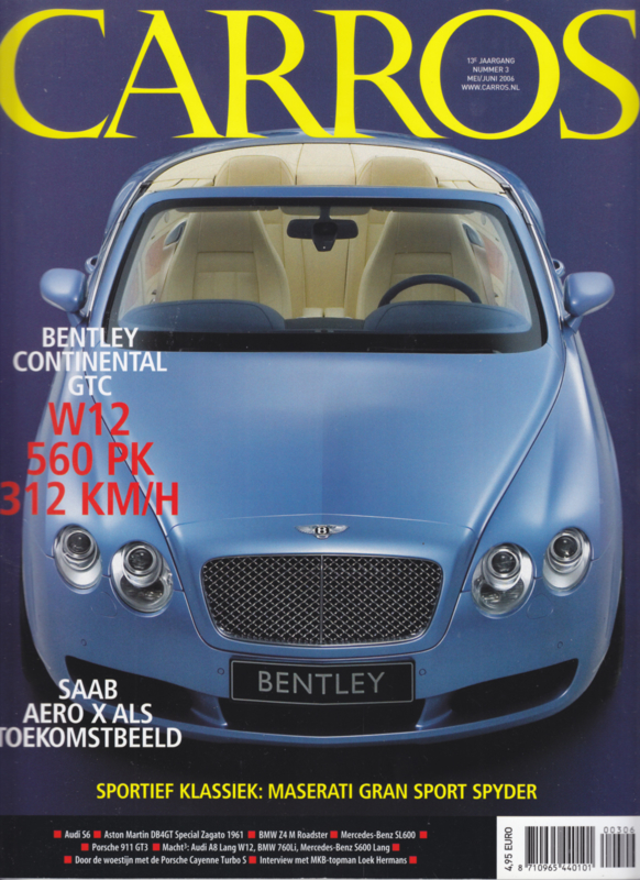Carros magazine, 116 pages, May/June 2006, Dutch language
