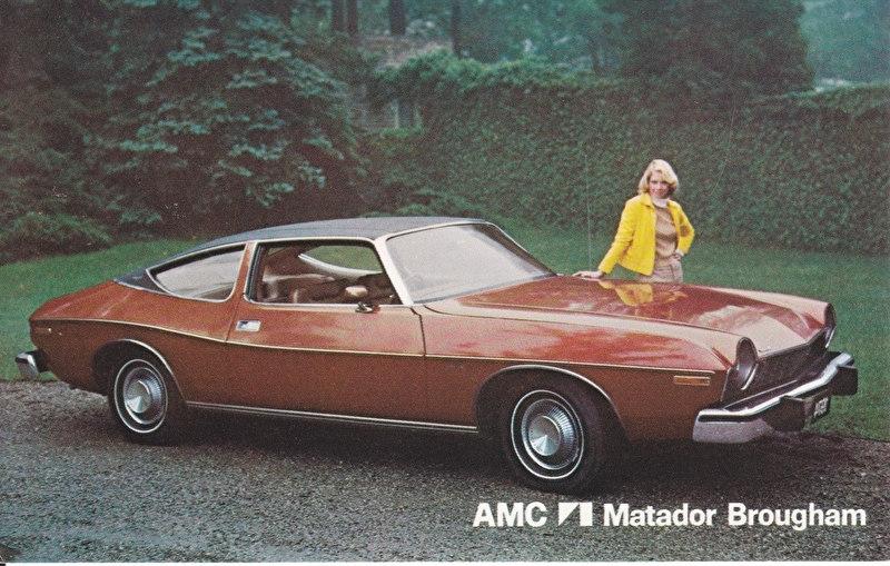 Matador Brougham, US postcard, standard size, 1974