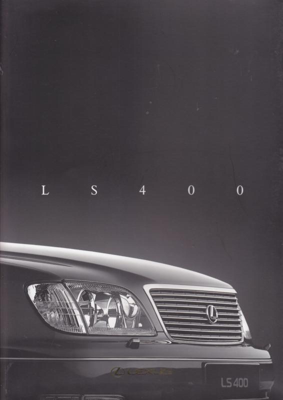 LS 400 Sedan prestige brochure, 68 pages, 10/1997, Dutch language