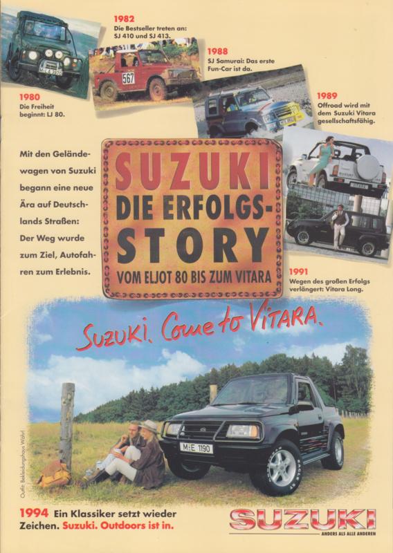 Program 4x4 + history brochure, 16 pages, 1994, German language