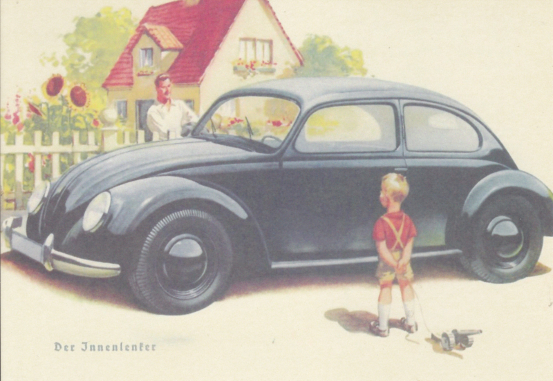 VW Beetle, DIN A6-size, unused, Dutch issue, 2008