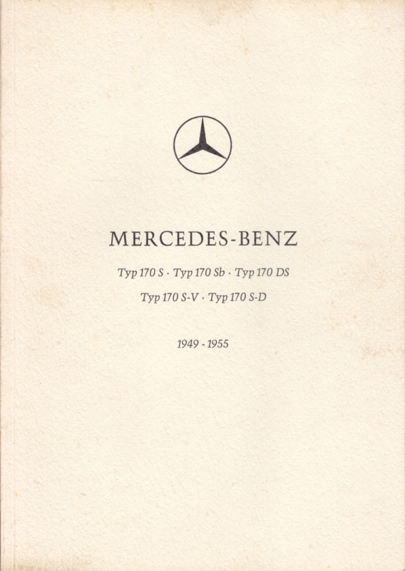 Typ 170 S/Sb/DS/S-V/S-D brochure. 64 pages, 1949-1955, German language