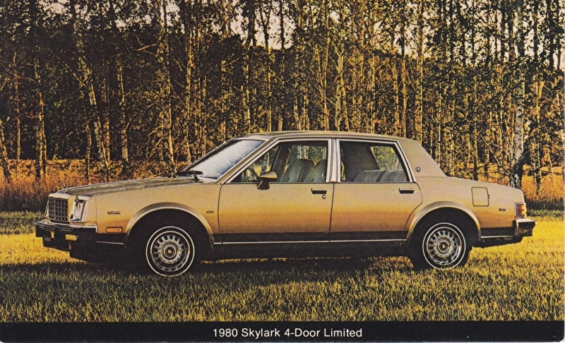 Skylark 4-Door Limited, US postcard, standard size, 1980