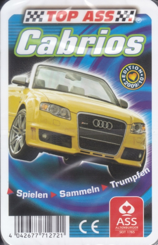 ASS Cabrios 2009/10,  32 different cards in plastic cover, German issue