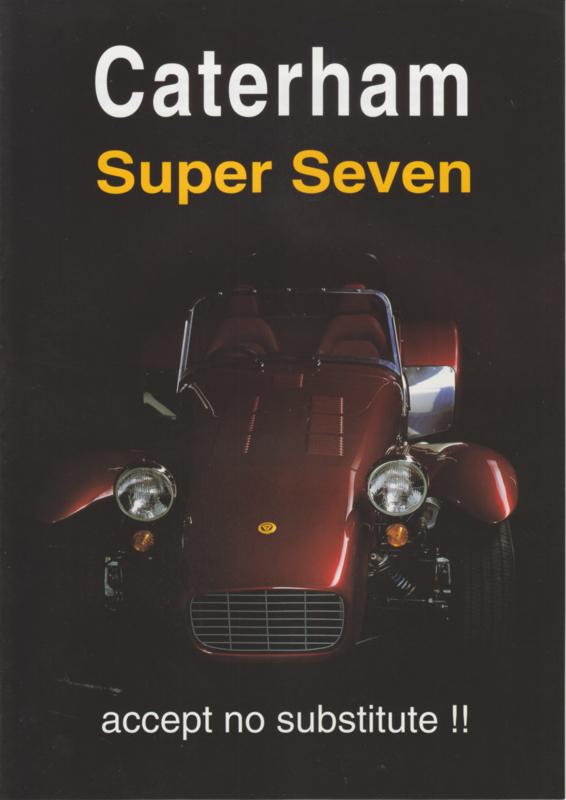 Caterham Super Seven brochure,  4 pages, about 2000, Dutch language