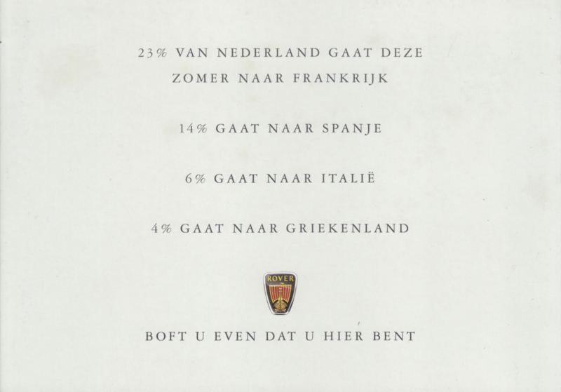 Limited Editions brochure, 4 pages, A5-size, 1998, Dutch language