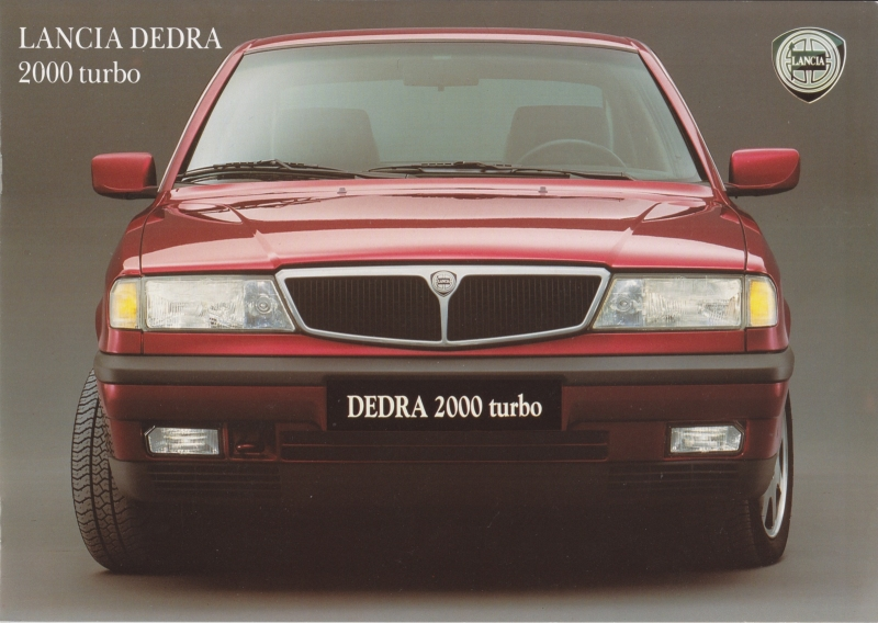 Dedra 2000 Turbo Sedan brochure, A4-size, 8 pages, about 1990, Dutch language