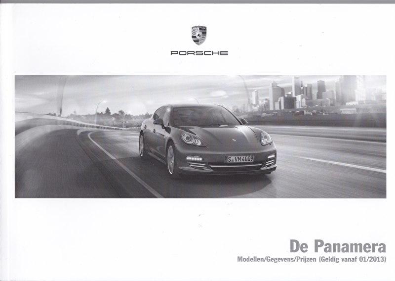 Panamera pricelist, 102 pages, 01/2013, Dutch language