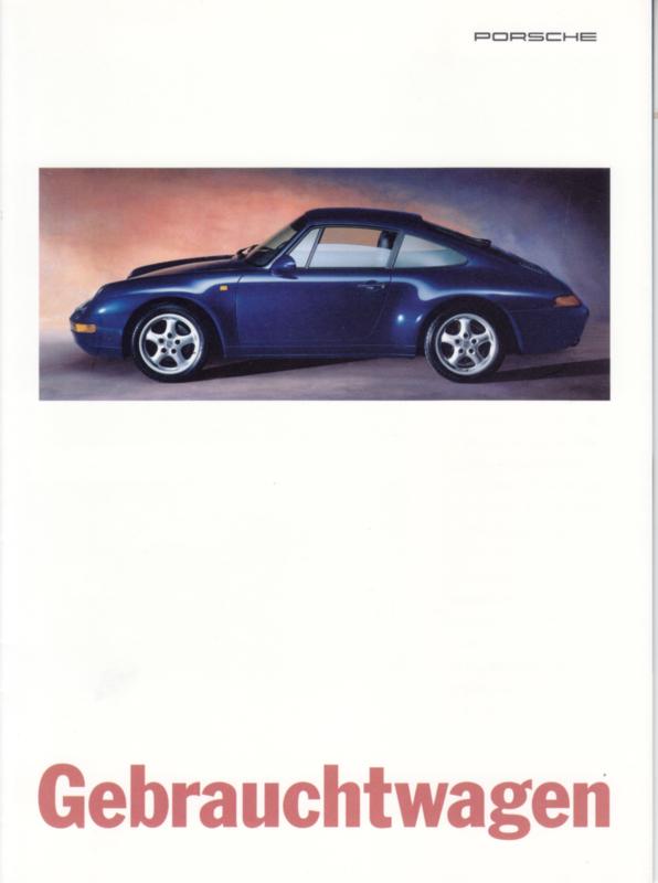 Used models brochure, 8 pages, 08/1995, German