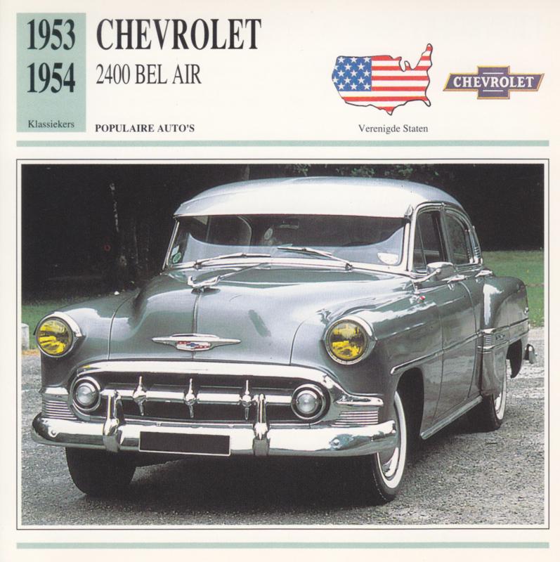 Chevrolet 2400 Bel Air card, Dutch language, D5 019 02-04