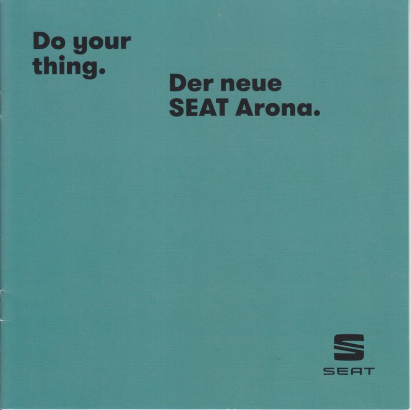 Arona new model brochure, 16 pages, 2017, German language