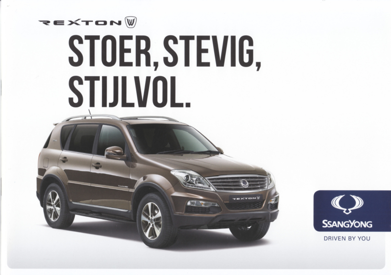 Rexton brochure, 24 pages, Dutch language, 10/2015