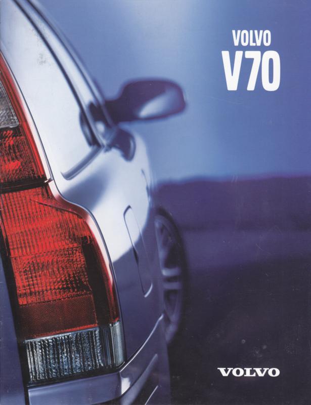 V70 brochure, 8 pages, 2000, Swedish language