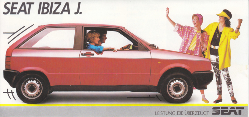 Ibiza J brochure, 6 pages, German language, 06/1986