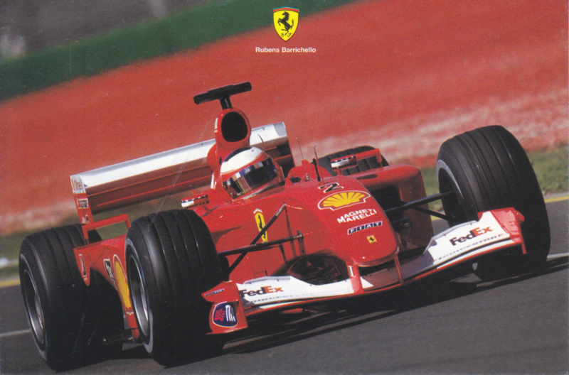 Formula One autogram postcard with driver Rubens Barrichello, 2001, # 1713