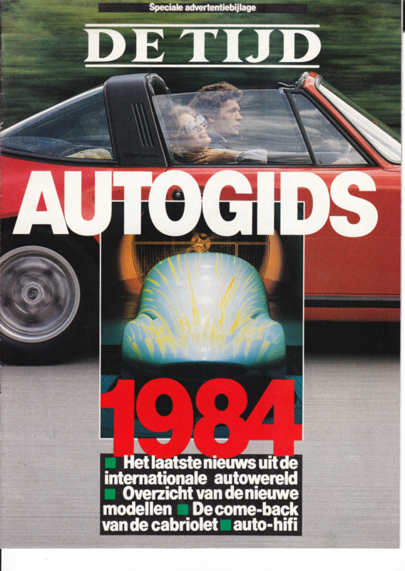 De Tijd Autogids, 16 pages, 1984, Dutch language (Belgium)