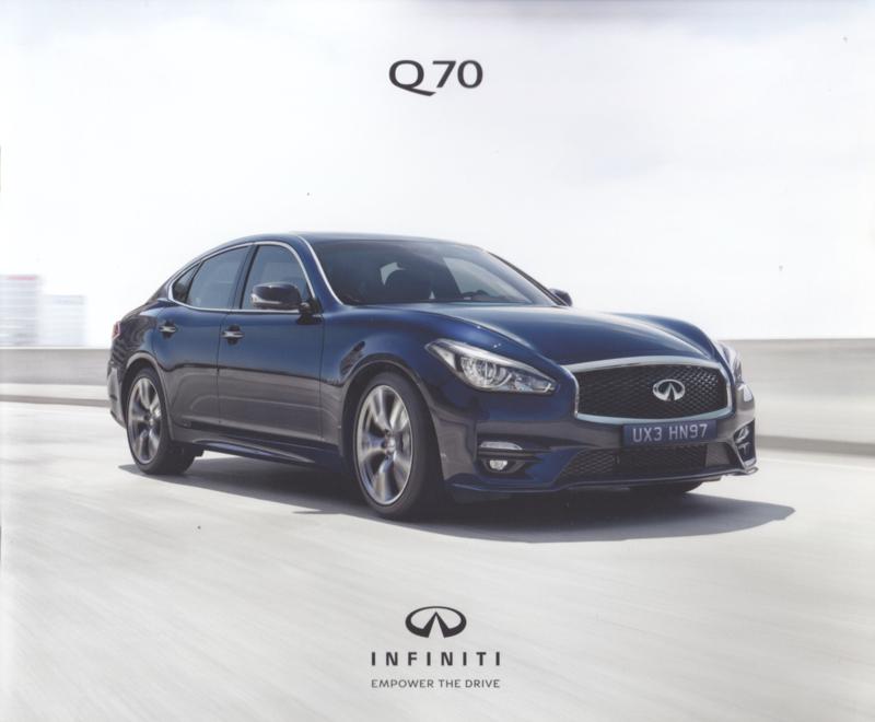 Q70 Sedan brochure, 12 pages, German language, 2017
