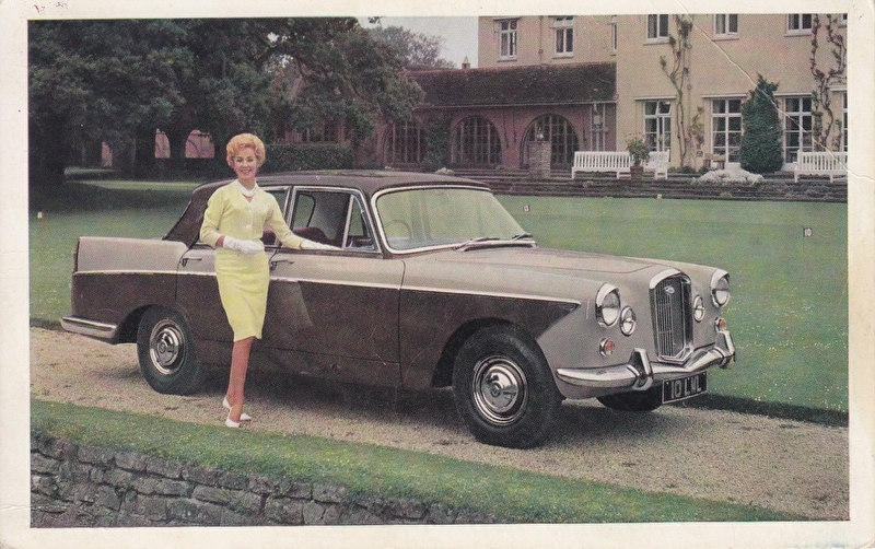 6/110 Saloon with Overdrive, English postcard, standard size, about 1962