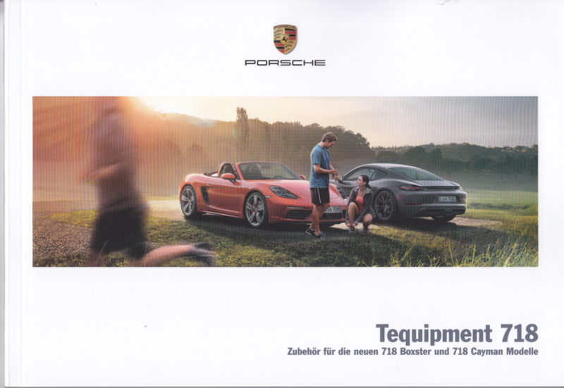 718 Boxster & Cayman tequipment brochure,  56 pages, 02/2016, German language