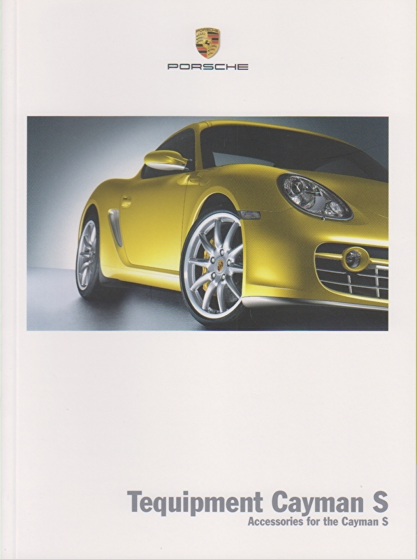 Cayman S Tequipment, 36 pages, 06/2005, English