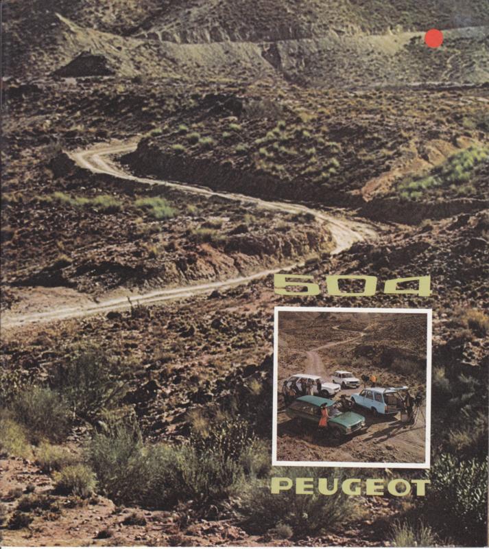 504 Station wagon brochure, 16 pages, Dutch language, 1974