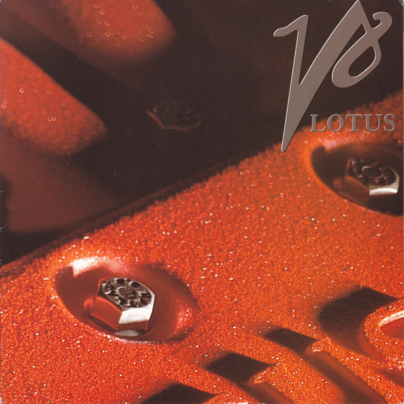 918 V8 engine Twin Turbo brochure, 6 pages, square size, c1997, English language