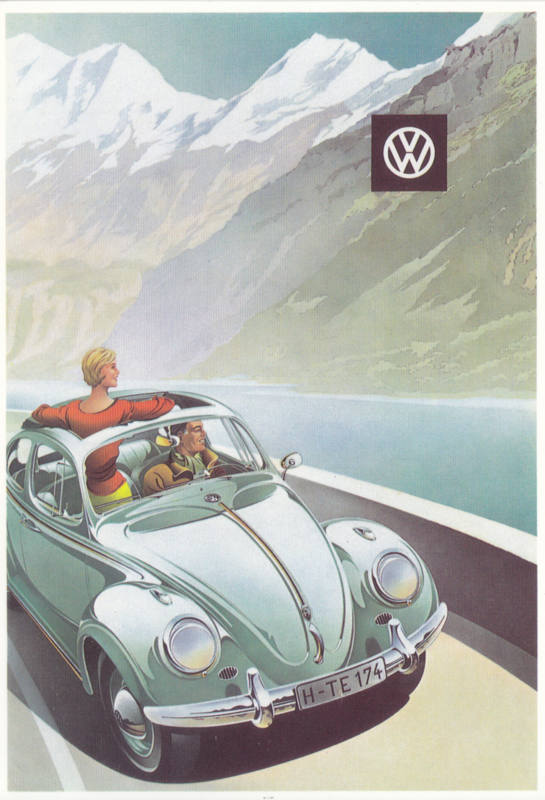 VW Beetle, DIN A6-size, Mayfair Cards of London, English language, # BC 405