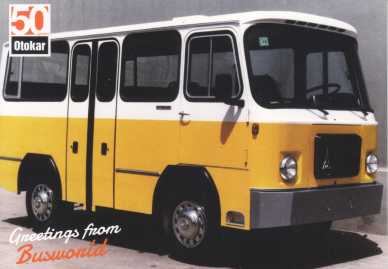 Otokar small coach postcard, A6-size, English language