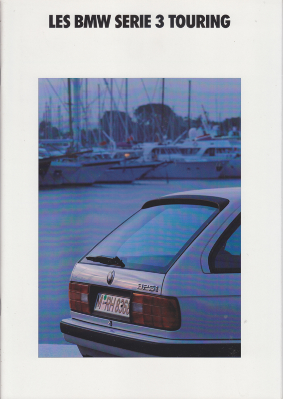 3-Series Touring brochure, 38 pages, A4-size, 2/1991, French language