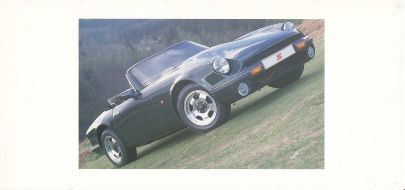 S V8 Convertible brochure, 4 pages, English language, about 1989 *