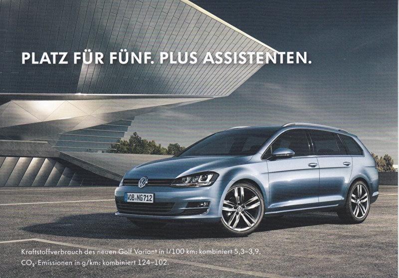 Golf Variant, A6-size postcard, German, 2014