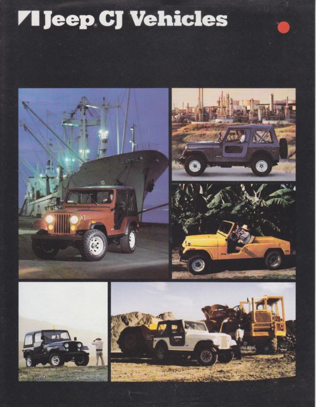 CJ Vehicles, leaflet, 2 pages, 1980, USA