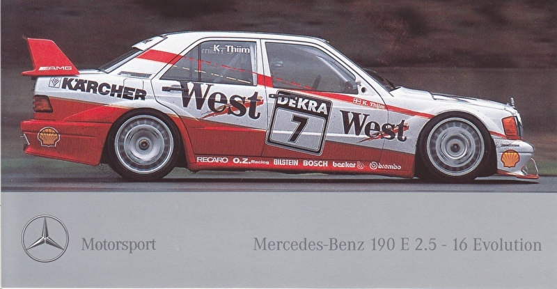 Mercedes-Benz Motorsport 190 E 2.5-16 Evolution, sticker, 8,5 x 15,5 cm