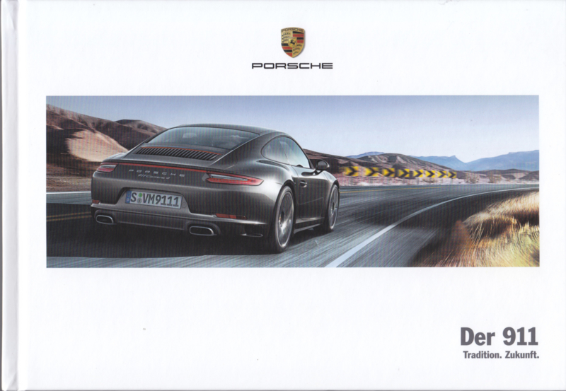 911 Carrera brochure, 164 pages, 03/2017, hard covers, German