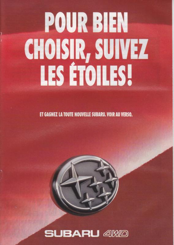 Program 4x4 brochure, 24 pages, French language, 03/1993, Switzerland
