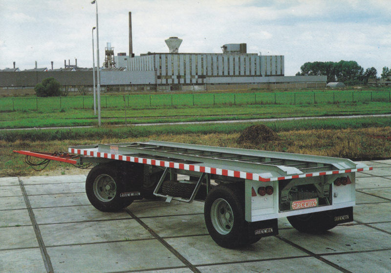 Trailer 2 axle, DIN A6-size postcard, Dutch issue